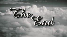 Stileerde de het Eindpagina van de Eind Oude Film stock footage