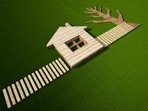 Stilerend huis Stock Afbeelding