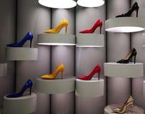 Stiletti Colourful su esposizione fotografia stock libera da diritti