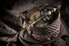 Stiletto. Secret edged weapons in the Middle Ages Stock Images