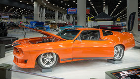 Stiletto, a 1972 Ford Mustang. DETROIT, MI/USA - MARCH 6, 2015: 'Stiletto', a 1972 Ford Mustang interpretation, contender for the Ridler trophy, on display at Royalty Free Stock Images
