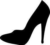 Stiletto - high heel. Illustration of a stiletto - high heel Stock Photo