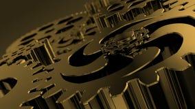 Stilfull affärsbakgrund med roterande metallkugghjul för presentation vektor illustrationer