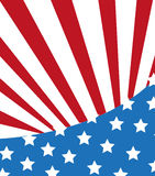 stilfull amerikanska flaggan Arkivbild
