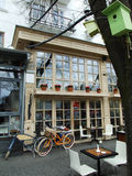 Stilfull café Arkivfoto