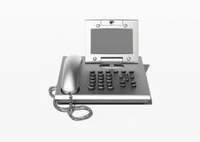 stilfull copyspacekontorstelefon Royaltyfri Fotografi
