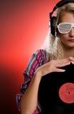 stilfull dj-kvinnlig Fotografering för Bildbyråer
