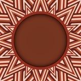 Stilfull för för rundatext eller foto för mörk brunt ram på dekorativ bakgrund av bruna skuggor Royaltyfri Fotografi