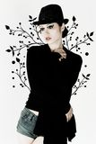 stilfull flicka Royaltyfri Bild