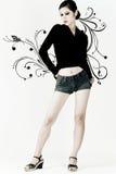 stilfull flicka Arkivfoto