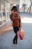 stilfull flickaexponeringsglashatt Arkivbilder