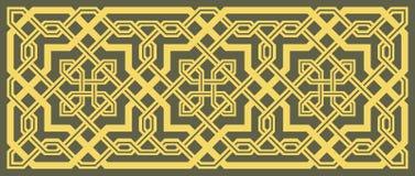 stilfull geometrisk prydnad vektor illustrationer