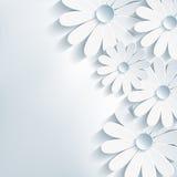 Stilfull idérik abstrakt bakgrund, 3d blomma ch Royaltyfria Bilder