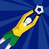 Stilfull illustration för fotboll som isoleras på bakgrund Fotografering för Bildbyråer