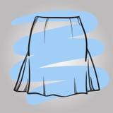 Stilfull illustration för vektor för kjolmodell hand dragen Royaltyfri Foto