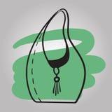 Stilfull illustration för vektor för kjolmodell hand dragen Royaltyfria Bilder