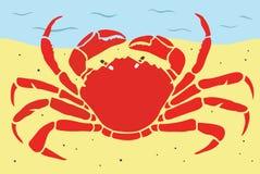 Stilfull krabba på en strand Royaltyfria Foton