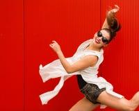 Stilfull kvinna fotografering för bildbyråer
