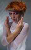 stilfull kvinna för laboratorium Royaltyfri Fotografi