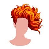 Stilfull kvinnlig frisyr Arkivbilder