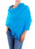 Stilfull kvinnlig halsduk med den orientaliska modellen Arkivfoton