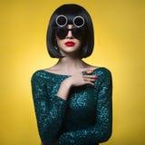 stilfull lady Royaltyfri Fotografi