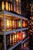 Stilfull lampa för ljus färg Fotografering för Bildbyråer
