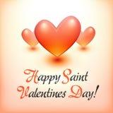 Stilfull lycklig Valentine Day vykort Arkivbilder