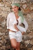 stilfull modekvinnlig Fotografering för Bildbyråer