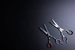 Stilfull professionell Barber Scissors, hårklipp och förtunning royaltyfria bilder