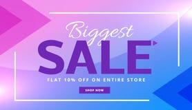 Stilfull purpurfärgad design för vektor för kupong för baner för advertizingförsäljning vektor illustrationer