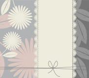 Stilfull räkning med blommor och sidor Arkivfoton