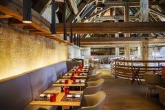 stilfull restaurang Royaltyfri Fotografi