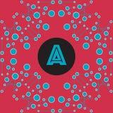 Stilfull sömlös geometrisk abstraktion med cirklar och linjer wi Royaltyfri Bild