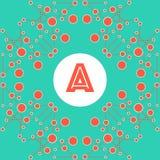 Stilfull sömlös geometrisk abstraktion med cirklar och linjer wi Vektor Illustrationer