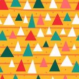 Stilfull sömlös modell för triangulära stycken vektor illustrationer