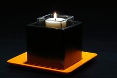 stilfull samtida hållare för aromatherapy stearinljus arkivbilder