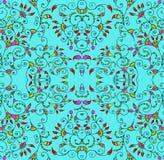 Stilfull seamless blom- bakgrund Royaltyfria Bilder