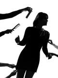 stilfull silhouette Arkivfoton