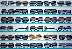 stilfull solglasögon för bakgrund Arkivbild