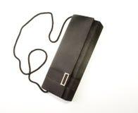 stilfull svart handväska royaltyfria foton
