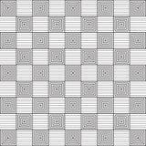 Stilfull svartvit monokrom geometrisk grafisk modell Arkivbilder