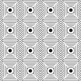 Stilfull svartvit monokrom geometrisk grafisk modell Royaltyfri Bild