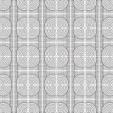 Stilfull svartvit monokrom geometrisk grafisk modell Royaltyfri Fotografi