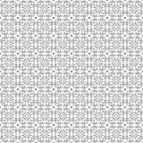 Stilfull svartvit monokrom geometrisk grafisk modell Fotografering för Bildbyråer