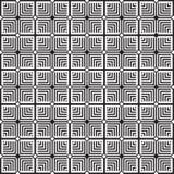 Stilfull svartvit monokrom geometrisk grafisk modell royaltyfri illustrationer