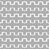 Stilfull svartvit monokrom geometrisk grafisk modell stock illustrationer