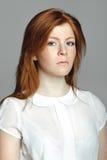 Stilfull ung europeisk kvinna för blandat lopp - materielbild Royaltyfria Foton