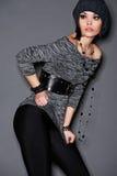 Stilfull ung modell Royaltyfri Foto