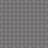 Stilfull vävd svartvit monokrom geometrisk grafisk modell stock illustrationer